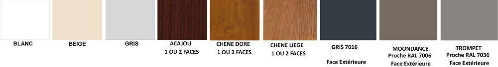 Nuancier pour fenêtres PVC sur Saint-lô, Coutances, Caen, Vire, Cherbourg, Granville