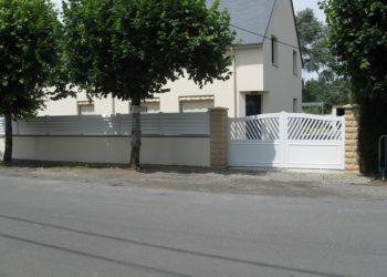 Portail PVC à Coutances dans la Manche