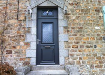 Porte d'entrée aluminium Vire Calvados (1)