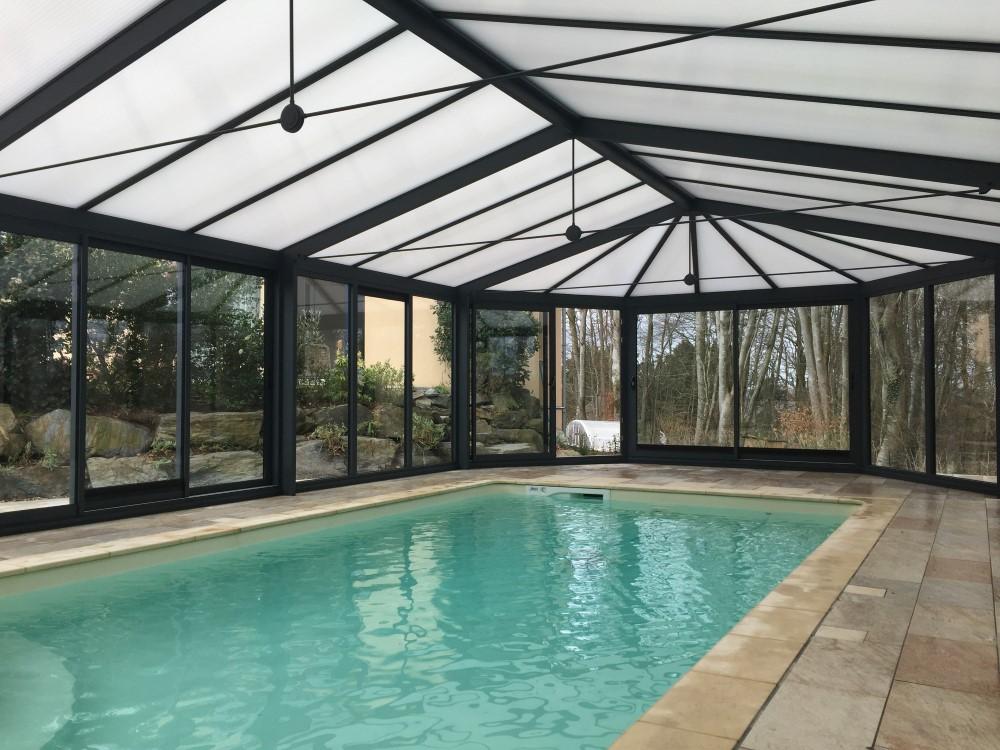 installation d 39 une v randa pour abriter une piscine sur saint l dans la manche socodime. Black Bedroom Furniture Sets. Home Design Ideas
