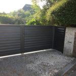 Portail aluminium à Vire dans le Calvados (14)